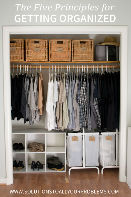 Organizing Tips - Do you struggle with how to get organized? I did until I started following the five principles in this article. They really work!