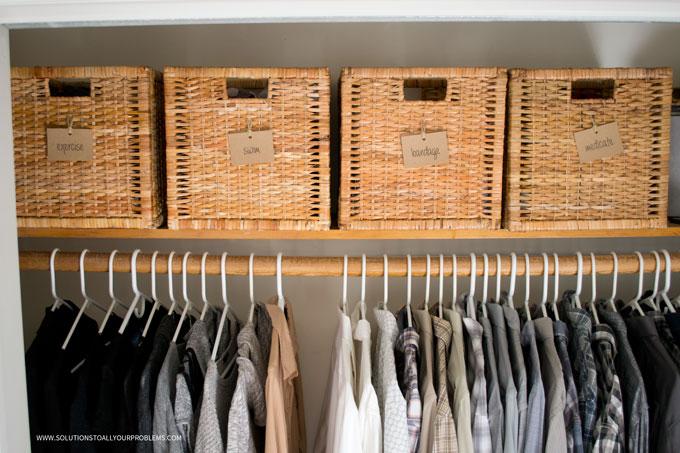 Closet Shelf Baskets