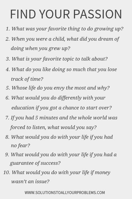 Questions to talk about