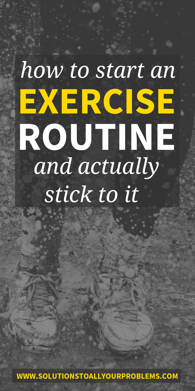 Want to learn how to start an exercise program and actually stick to it? I started SO many times until the tips and tricks in this article helped me develop a lasting exercise routine...