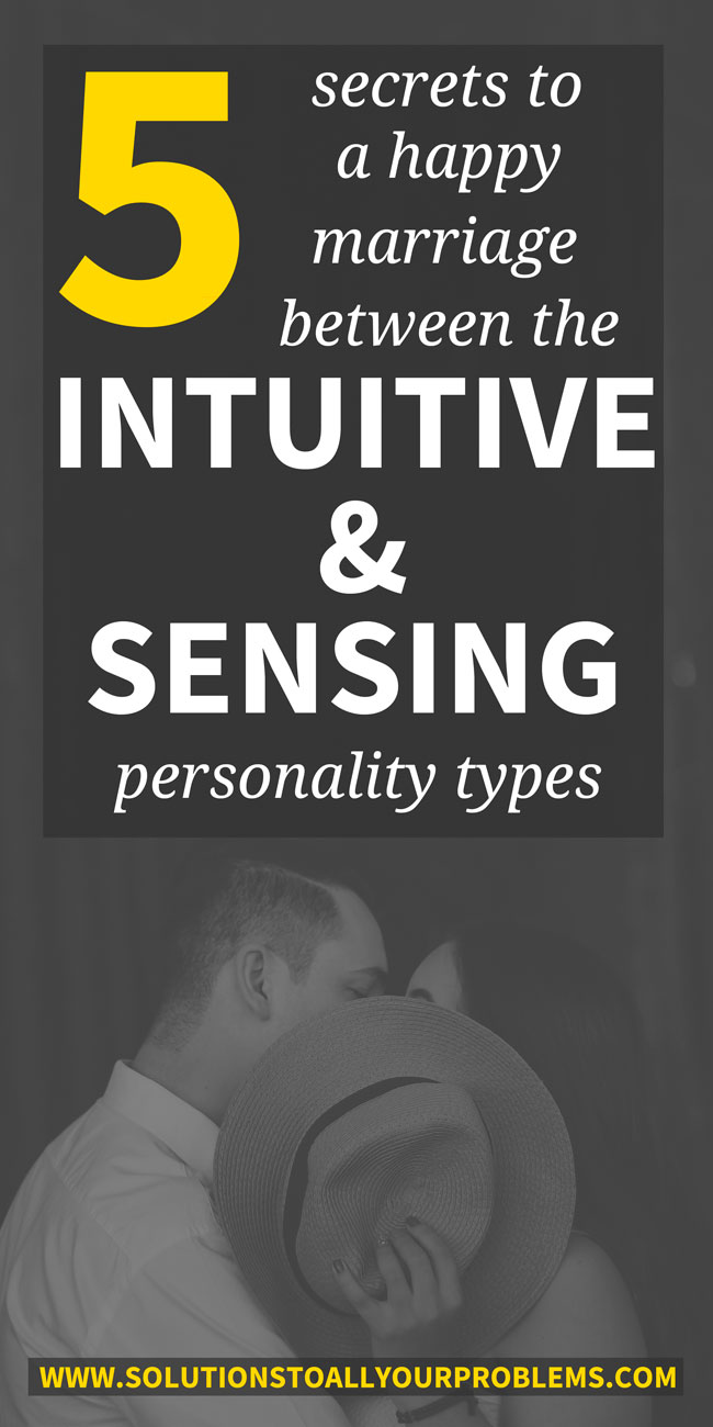 Relationships between intuitives and sensors can be challenging. Just ask my husband and me! ;) Here are 5 tips for making an intuitive-sensor marriage work.