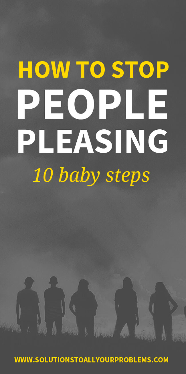 Tired of being a people pleaser? Check out this article on how to stop people pleasing. 10 baby steps you can take to practice setting boundaries and taking care of yourself.