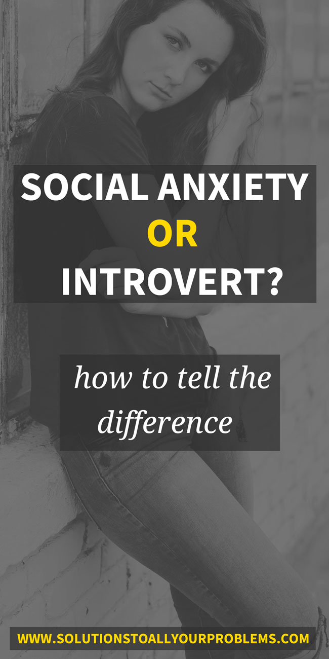 Social Anxiety Or Introvert? These two get confused a lot. Here's how to tell the difference...