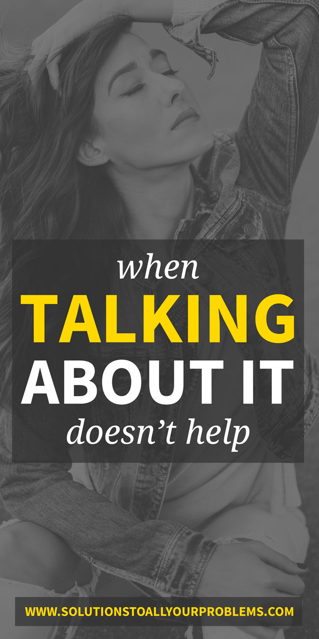 Depression And Anxiety: When talking doesn't help...