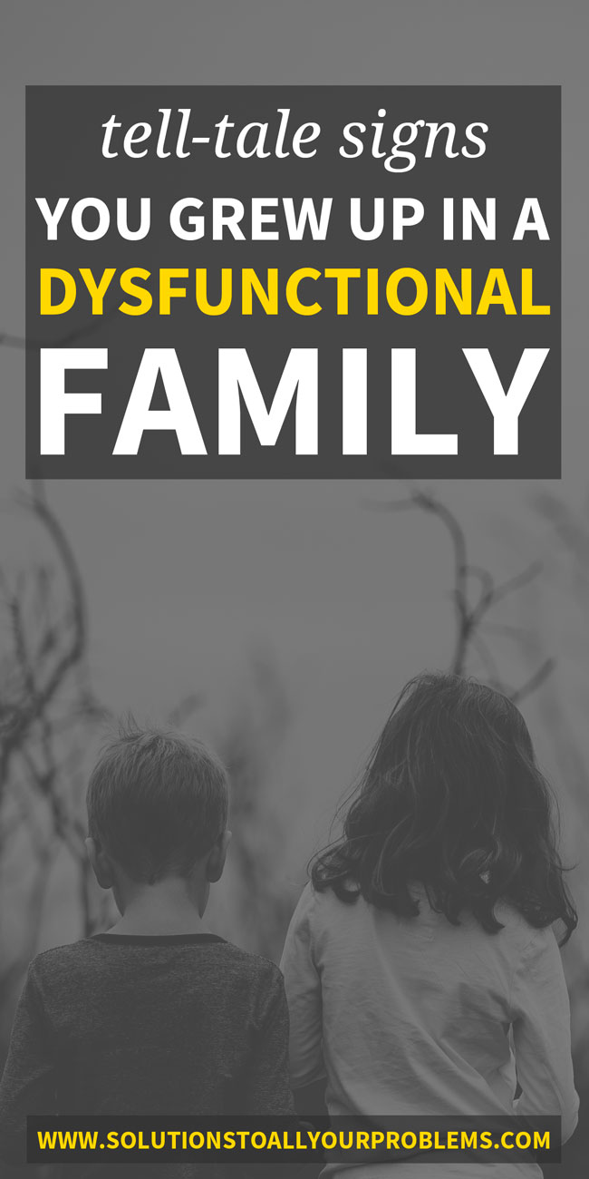 Signs of a dysfunctional family: what happens in dysfunctional families, causes of family dysfunction, and the effects of growing up in a dysfunctional family. From someone who has been there.