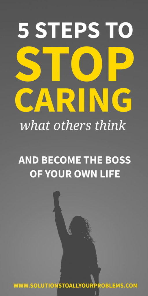How to stop caring what others think: 5 ways I have learned to stop worrying about what others think and focus on myself and my own life! This is one of the BEST life skills.