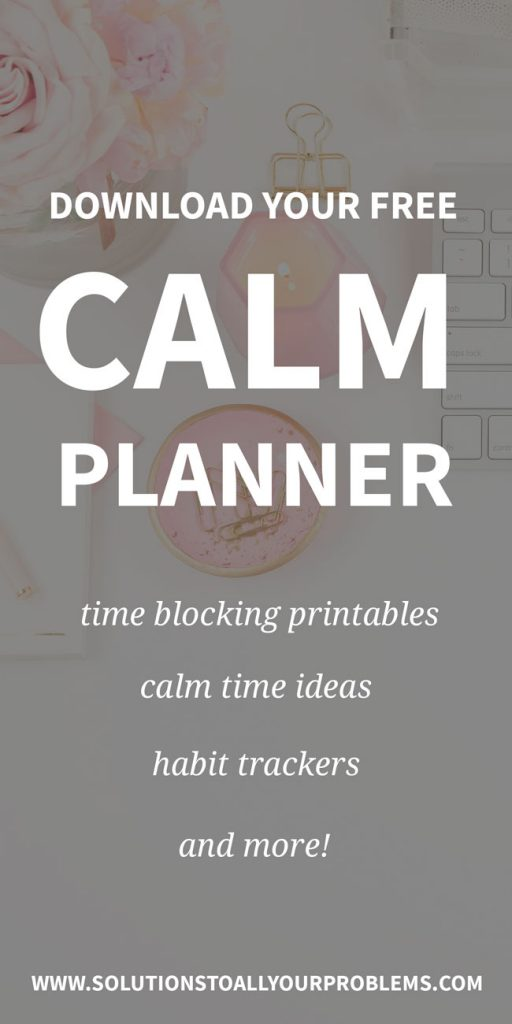 Anxiety planner with free printables to help you find calm!
