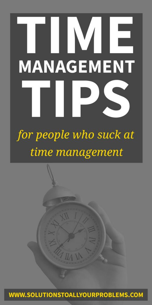 Time management tips for people who suck at time management! :)  Here are five ideas to consider if time management just doesn't come to you naturally.
