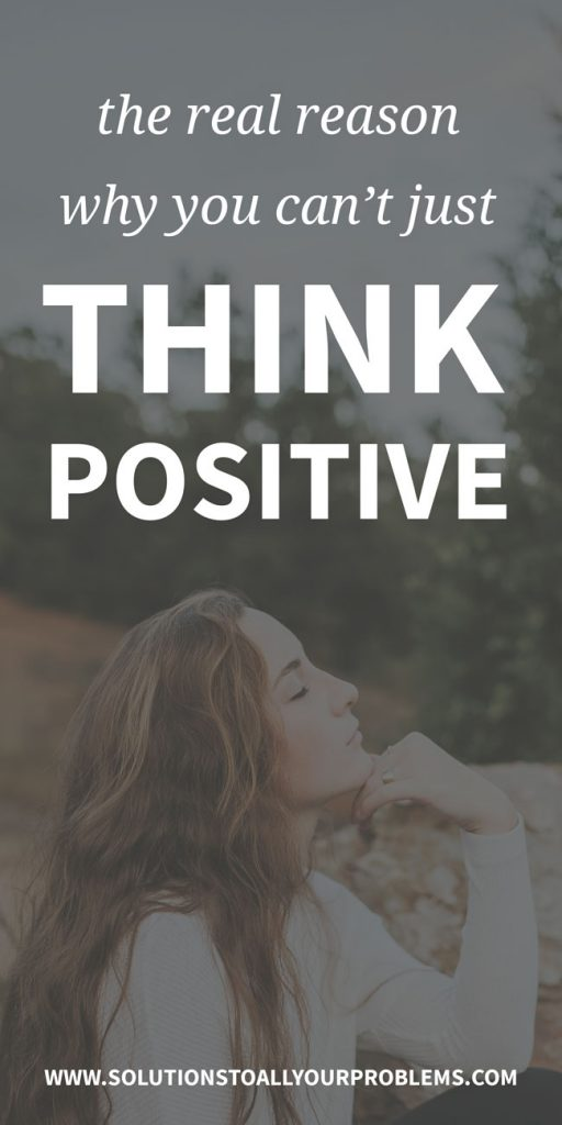 "Have you tried thinking positive to overcome anxiety and/or depression without much success? Here's the reason why you can't just ""think positive"" and always expect it to work."